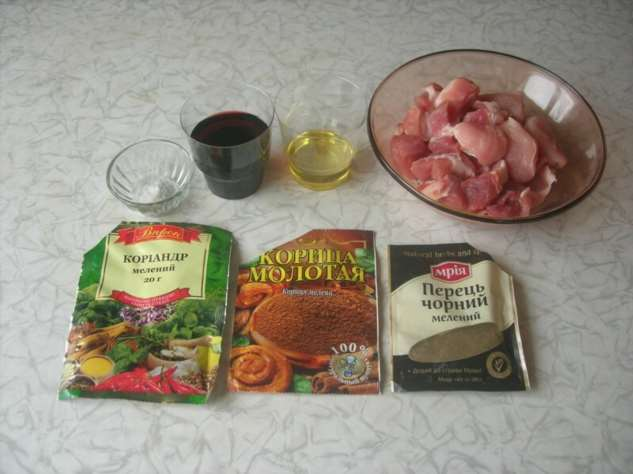 Мясо в красном вине со специями  Интересное