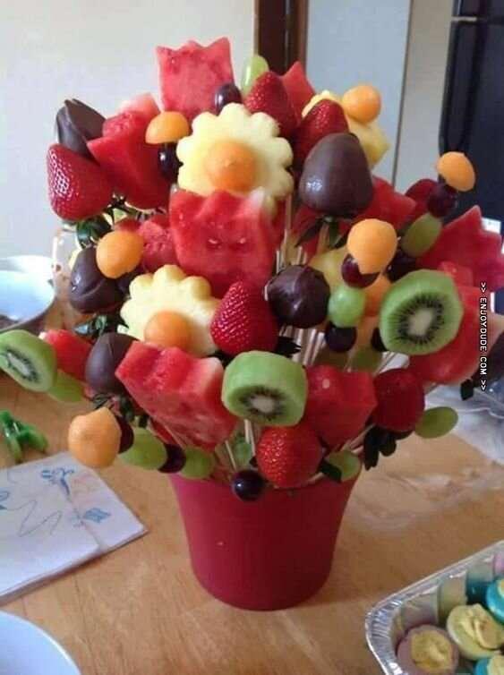 25 вариантов подарить цветы и накормить одновременно  Интересное