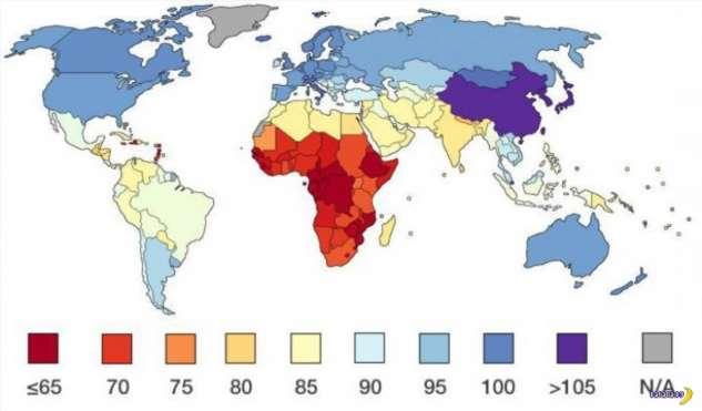 IQ в разных странах мира