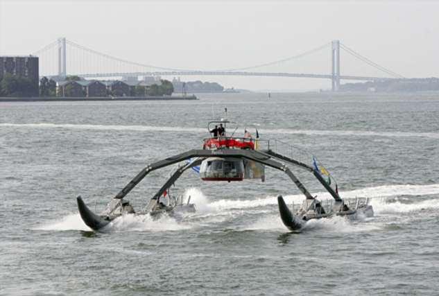 «Протей» — необычное судно с неукротимым нравом, внешне похожее на водомерку