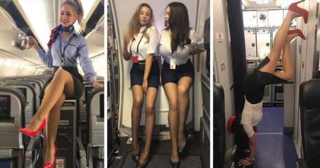 Сексуальные бортпроводницы, которые скрасят любой полет