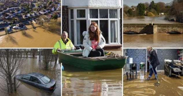 Наводнения в Великобритании после урагана Деннис Интересное