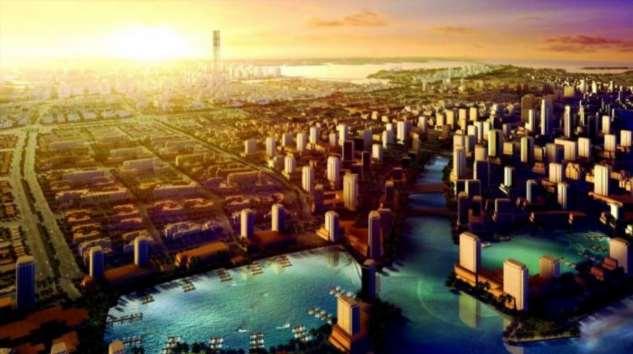 Искусственные облака и роботы — в пустыне построят грандиозный город будущего  Интересное