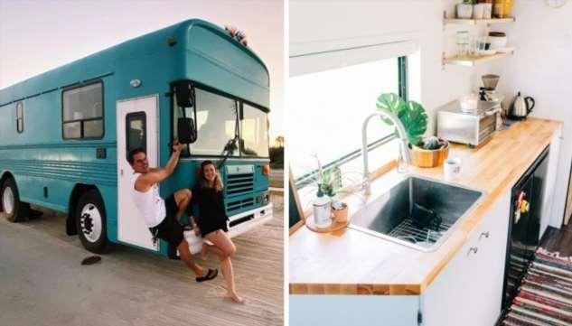 Фургон Blue Bird Bus — настоящий дом на колесах