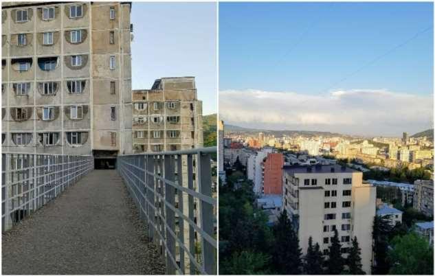 Зачем в столице Грузии делали воздушные мосты сквозь советские панельные многоэтажки Интересное