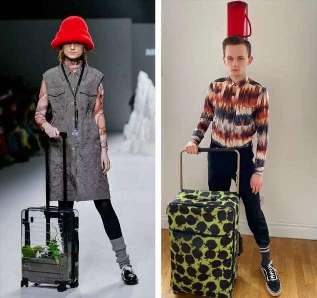 Карантин на стиле: модные образы из подручных материалов  Интересное