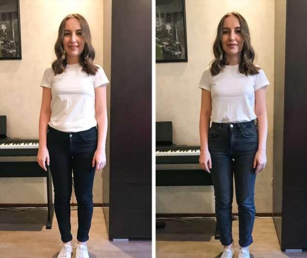 Девушки примерили 14 вещей, которые помогают выглядеть на 2 размера меньше. И показали свои фото «до и после» Интересное
