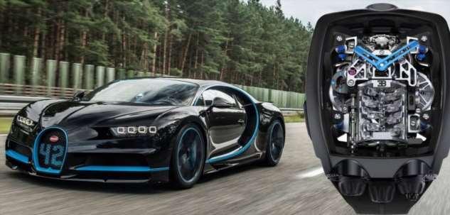 Необыкновенные часы с миниатюрным 16-цилиндровым двигателем от Bugatti Chiron  Интересное