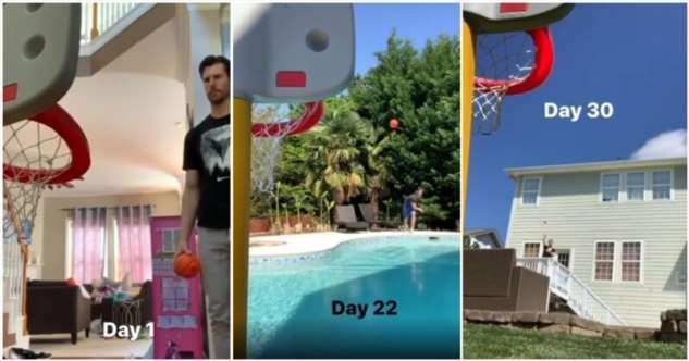 30 дней самоизоляции с детским баскетбольным кольцом  Интересное