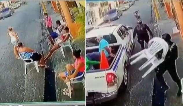 В Бразилии полицейские оставили нарушителей карантина без стульев  Интересное