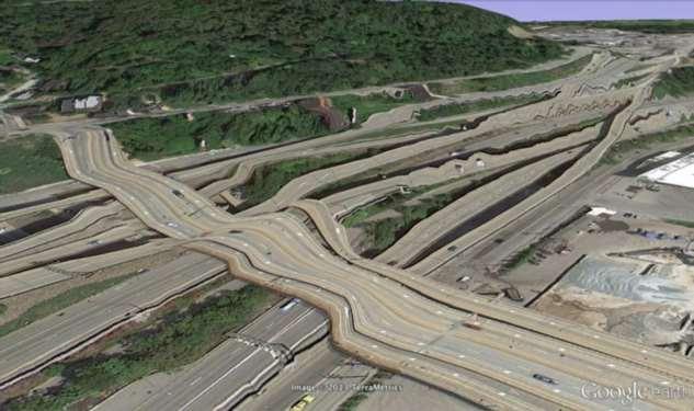 Фотографии из Google Earth, противоречащие здравому смыслу Интересное