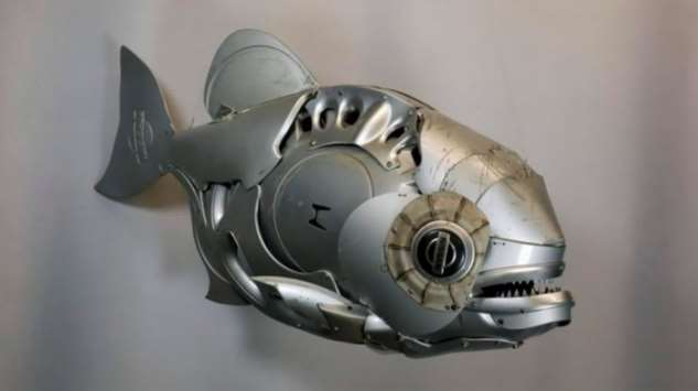 Удивительные скульптуры животных из металлолома Интересное
