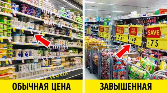 15+ уловок, с помощью которых супермаркеты вынуждают нас потратить все до копейки Интересное